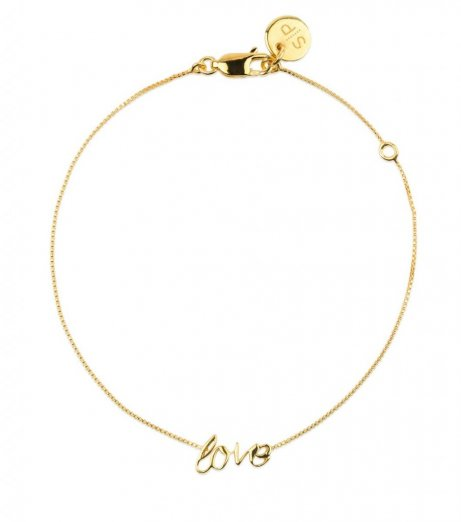 Syster p armband guld love