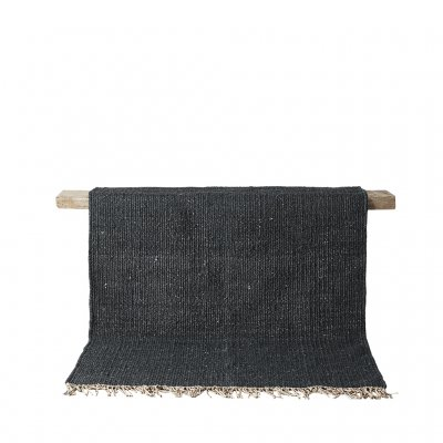 Tell me more Hemp rug 200x300 - svart