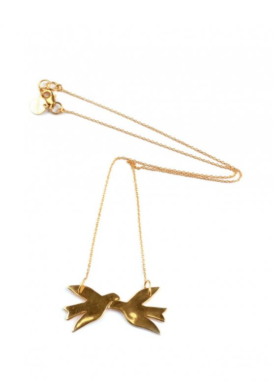 syster p halsband birdy necklace guld